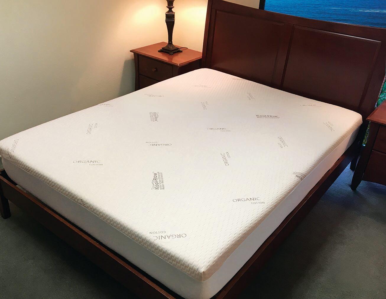 Kool-Flow® Organic Cotton Memory Foam Mattress Protector ...